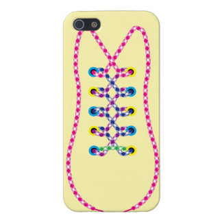 Yellow All Laced Up iPhone 5 Case