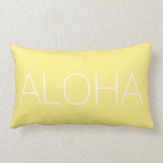 Yellow Aloha Modern Throw Pillow