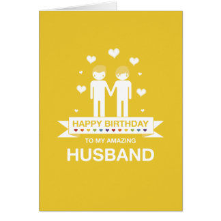 Yellow | Amazing Husband | Happy Birthday Card