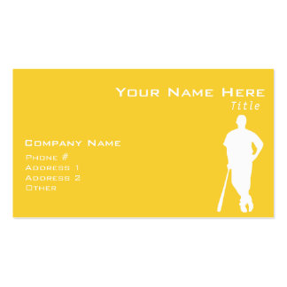 Yellow Amber Baseball Pack Of Standard Business Cards