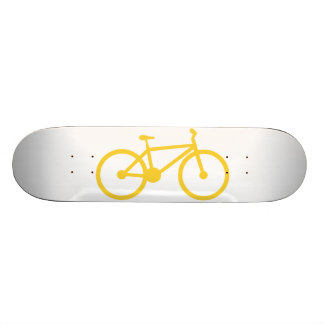 Yellow Amber Bicycle Skate Boards