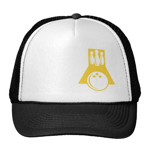 Yellow Amber Bowling Mesh Hat