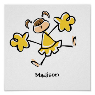 Yellow Amber Cheerleader Posters