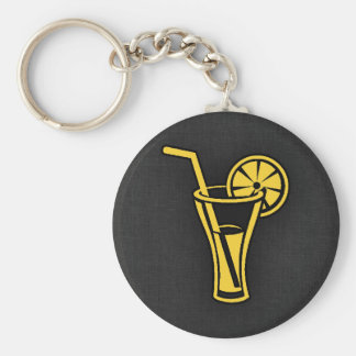 Yellow Amber Cocktail Key Chain