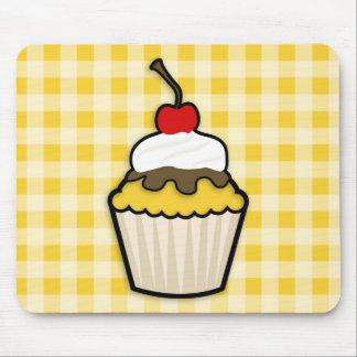 Yellow Amber Cupcake Mouse Pad
