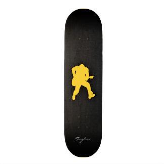 Yellow Amber Guitar Player Skate Deck