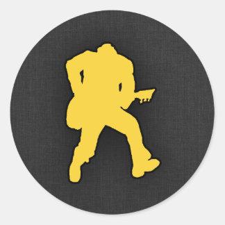 Yellow Amber Guitar Player Sticker