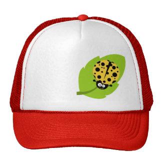Yellow Amber Ladybug Cap