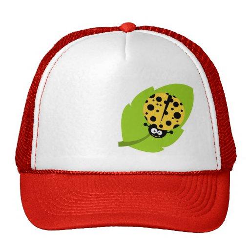 Yellow Amber Ladybug Hats