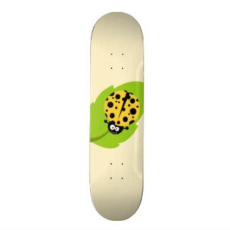 Yellow Amber Ladybug Skateboard