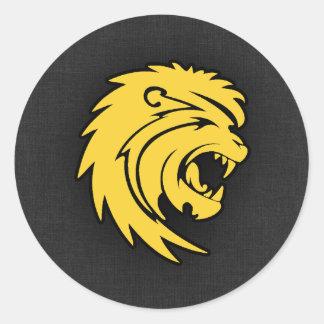 Yellow Amber Leo Classic Round Sticker