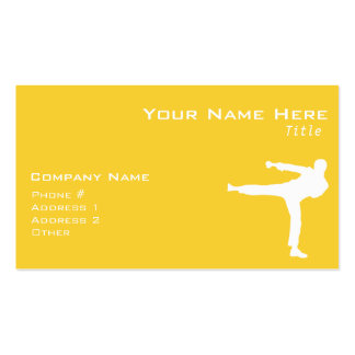 Yellow Amber Martial Arts Pack Of Standard Business Cards