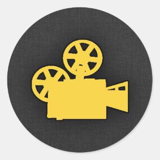 Yellow Amber Movie Camera Sticker