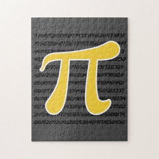 Yellow Amber Pi Symbol Jigsaw Puzzle