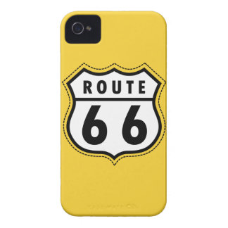 Yellow Amber Route 66 road sign Case-Mate iPhone 4 Case