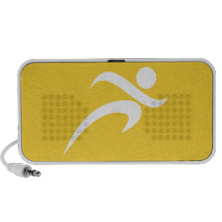 Yellow Amber Running Portable Speaker