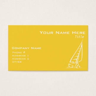 Yellow Amber Sailing Business Card