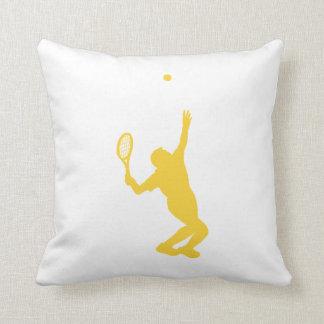 Yellow Amber Tennis Cushion