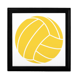 Yellow Amber Volleyball Jewelry Boxes
