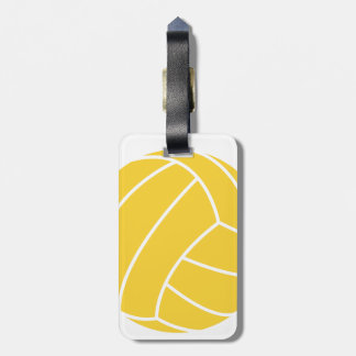 Yellow Amber Volleyball Luggage Tag