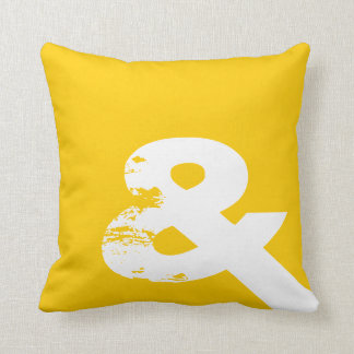 Yellow Ampersand Pillow Cushion
