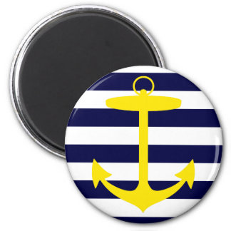 Yellow Anchor Silhouette Magnet