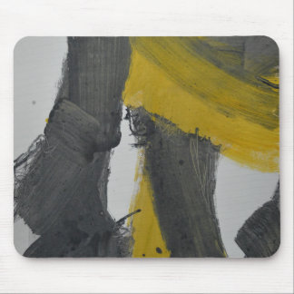 Yellow And Black Abstract 2 Mousepads