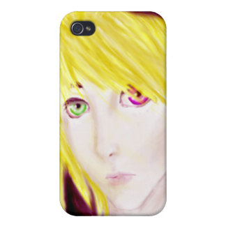 Yellow and Black Anime Boy Skater Cover For iPhone 4