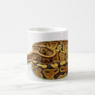 Yellow and Black Ball Python Coffee Mug