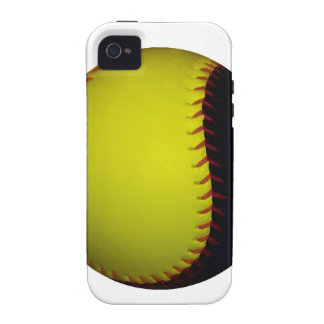 Yellow and Black Baseball Softball Case-Mate iPhone 4 Cases