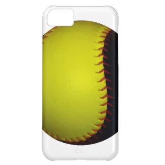 Yellow and Black Baseball / Softball iPhone 5C Cases