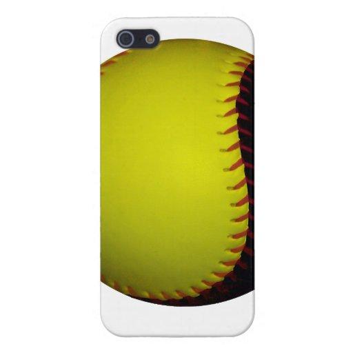 Yellow and Black Baseball / Softball iPhone 5 Cover