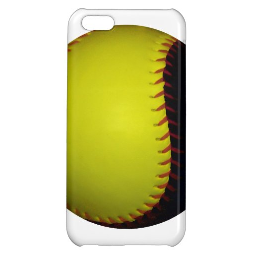 Yellow and Black Baseball / Softball iPhone 5C Case