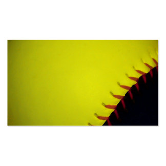 Yellow and Black Baseball / Softball Pack Of Standard Business Cards