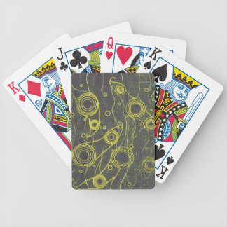 Yellow and Black Bicycle Playing Cards