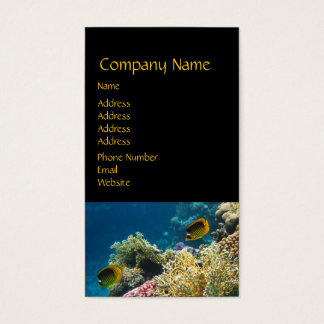 Yellow and Black Butterfly Fish Business Card