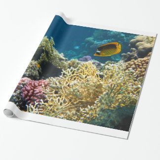 Yellow and Black Butterfly Fish Wrapping Paper