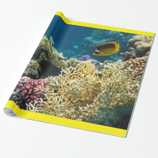 Scuba diving wrapping paper for Fish wrapping paper