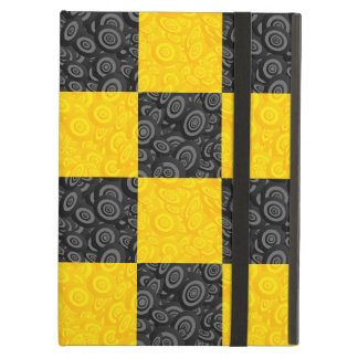 Yellow and Black Checker Cover For iPad Air
