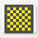 Yellow and Black Chess Table Mouse Pads