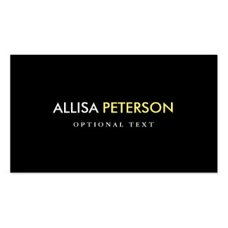 Yellow and Black Chic Style - Classy High Contrast Pack Of Standard Business Cards
