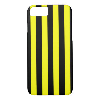 Yellow and Black Coloured striped pattern iPhone 8/7 Case