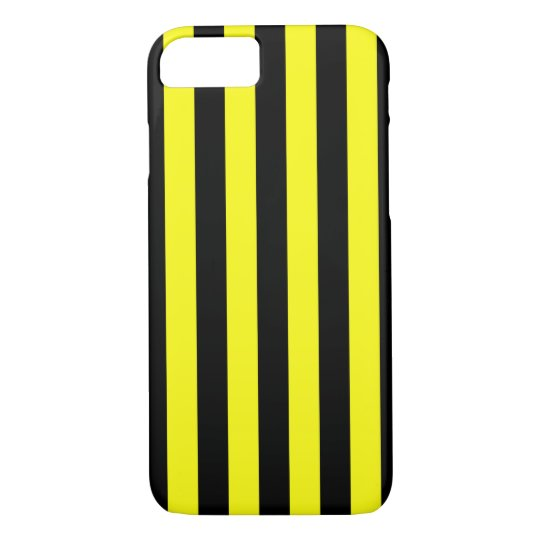 Yellow and Black Coloured striped pattern iPhone 8/7