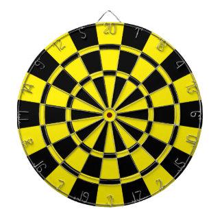 Yellow And Black Dartboard