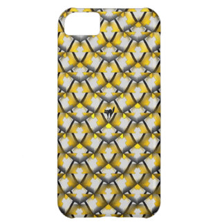 Yellow and Black Diagonal Pattern iPhone 5C Case