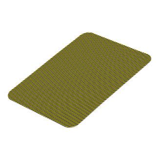 Yellow and Black Diagonal Stripes Rectangular Photo Magnet