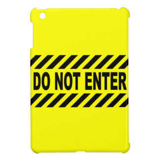 Yellow And Black Do Not Enter Sign Case For The iPad Mini