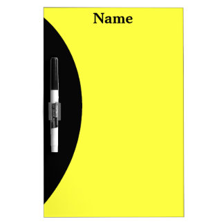 Yellow and Black Dry Erase Board