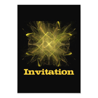 Yellow And Black Fractal Card