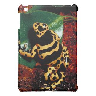 Yellow and Black Frog iPad Mini Cover
